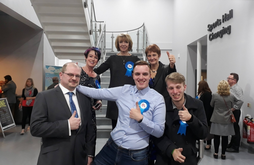 Conservative Members & Candidates at the 2018 Local Election Count