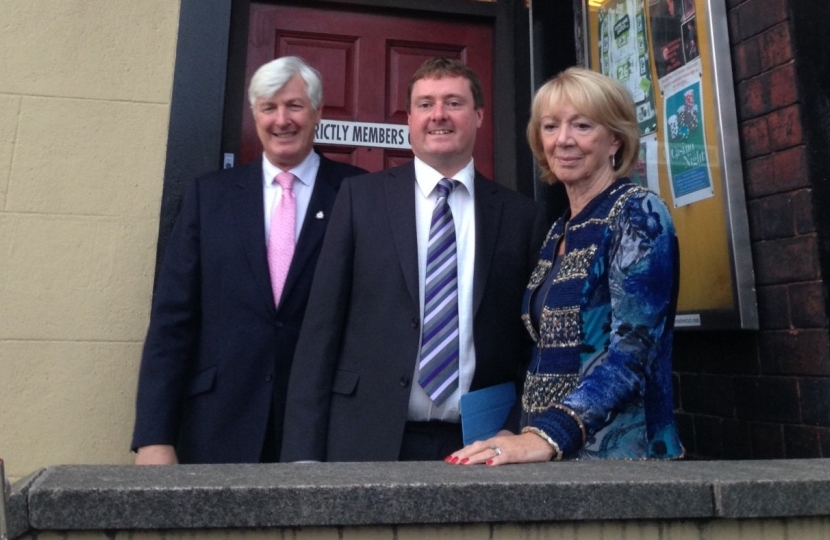 Councillors Ian Duckworth & Pat Sullivan with ByElection Candidate Iain Gartside